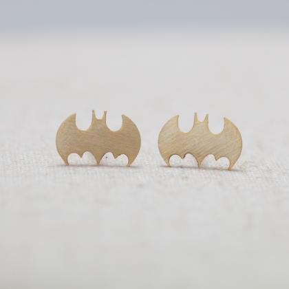 Tiny Batman Stud Earrings