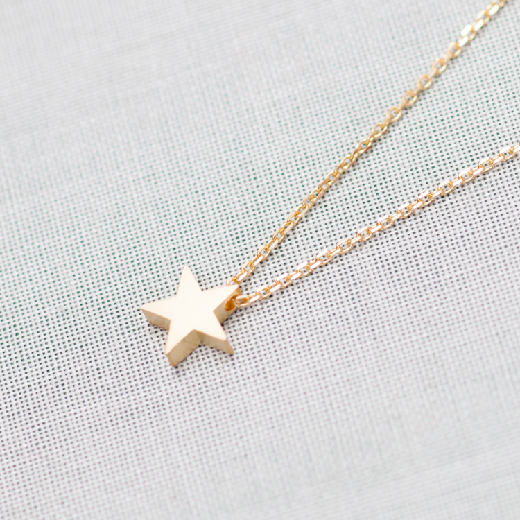 Tiny star pendant necklace in gold on luulla tiny star pendant necklace in gold aloadofball